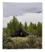 Low Clouds On The Mountain Fleece Blanket