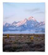 Low Sunrise Clouds Fleece Blanket