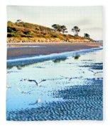 Low Tide At Jekyll Island Fleece Blanket