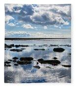 Low Tide At Lyme Regis 2 Fleece Blanket