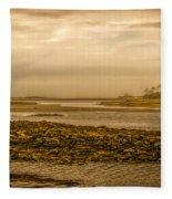 Low Tide Cape Porpoise Maine Fleece Blanket