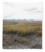 Low Tide Fog Fleece Blanket