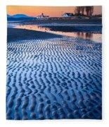 Low Tide In Seattle Fleece Blanket