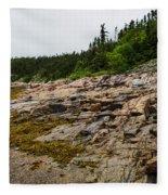 Low Tide - Walking On The Bottom Of Saint Lawrence River Fleece Blanket
