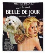 Lowchen Art - Belle De Jour Movie Poster Fleece Blanket
