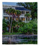 Lowcountry Home On The Wando River Fleece Blanket