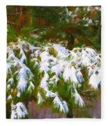 Lowcountry Snow Fleece Blanket