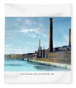 Lowell Massachusetts - Mills On The Merrimack River - 1910 Fleece Blanket