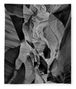 Lower Antelope Glow Black And White Fleece Blanket
