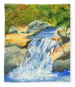 Lower Burch Creek Fleece Blanket
