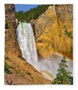 Lower Falls From Uncle Toms Trail Fleece Blanket