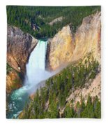 Lower Falls Yellowstone 2 Fleece Blanket