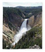 Lower Falls Yellowstone Fleece Blanket