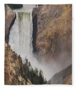 Lower Falls - Yellowstone Fleece Blanket