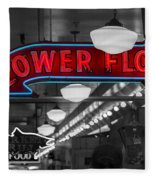 Lower Floor Selective Black And White Fleece Blanket