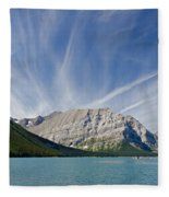 Lower Kananaskis Lake Fleece Blanket