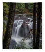 Lower Lewis Falls 3 Fleece Blanket