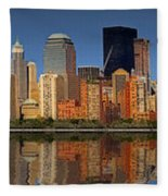 Lower Manhattan Skyline Fleece Blanket