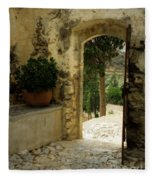Lower Preveli Monastery Crete 3 Fleece Blanket