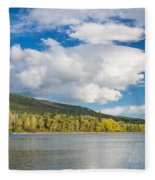Lower Saint Mary Lake 1 Fleece Blanket