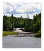 Lower Tahquamenon Falls L Fleece Blanket