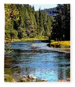 Lower Truckee River Fleece Blanket