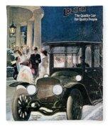 Lozier Cars - Vintage Advertisement Fleece Blanket