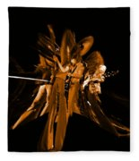 Ls Spo #68 Enhanced In Amber Squished Fleece Blanket