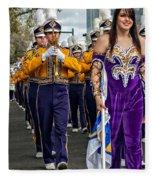 Lsu Marching Band 5 Fleece Blanket