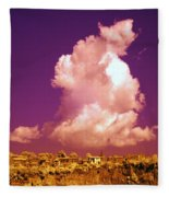 Lubriano, Italy, Infrared Photo Fleece Blanket