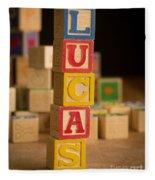 Lucas - Alphabet Blocks Fleece Blanket
