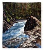Lucia Falls Downstream Fleece Blanket