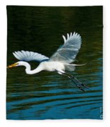 Lucky Egret Fleece Blanket