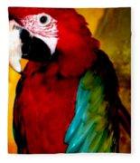 Lucky Look Bird Fleece Blanket