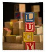 Lucy - Alphabet Blocks Fleece Blanket