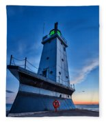 Ludington Lighthouse Fleece Blanket