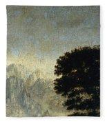 Ludlow Castle, Shropshire Fleece Blanket
