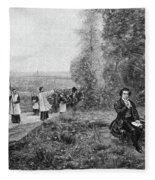 Ludwig Van Beethoven (1770-1827) Fleece Blanket