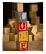 Luke - Alphabet Blocks Fleece Blanket