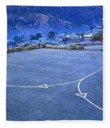 Lukla Airport Fleece Blanket