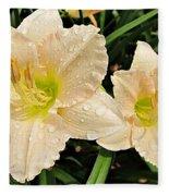 Lullaby Baby Daylilies Fleece Blanket