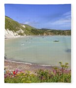 Lulworth Cove Fleece Blanket