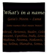 Luna Moon What S In A Name Throw Pillow For Sale By