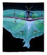 Luna Moth Mirrored Fleece Blanket