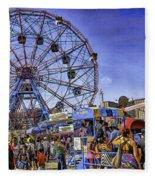 Luna Park 2013 - Coney Island - Brooklyn - New York Fleece Blanket
