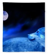 Lunar Wolf 2 Fleece Blanket