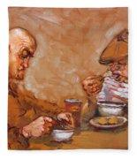 Lunchtime At Tim  Fleece Blanket