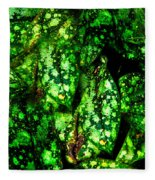 Lungwort Leaves Abstract Fleece Blanket
