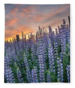 Lupine Dawn Fleece Blanket