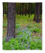 Lupine Forest Fleece Blanket